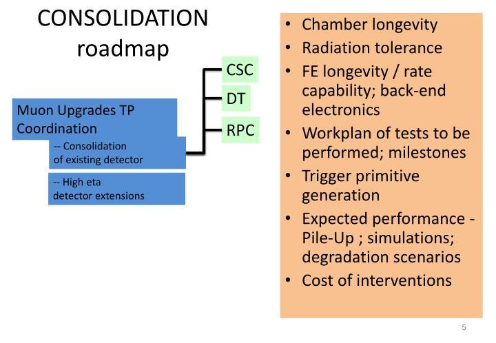 CONSOLIDATION roadmap