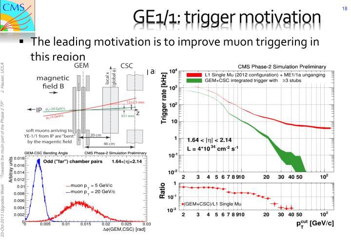 GE1/1: trigger motivation