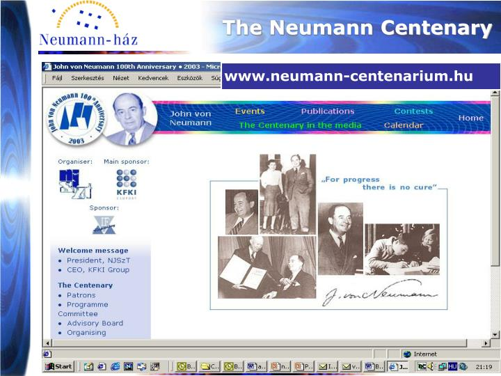 The Neumann Centenary