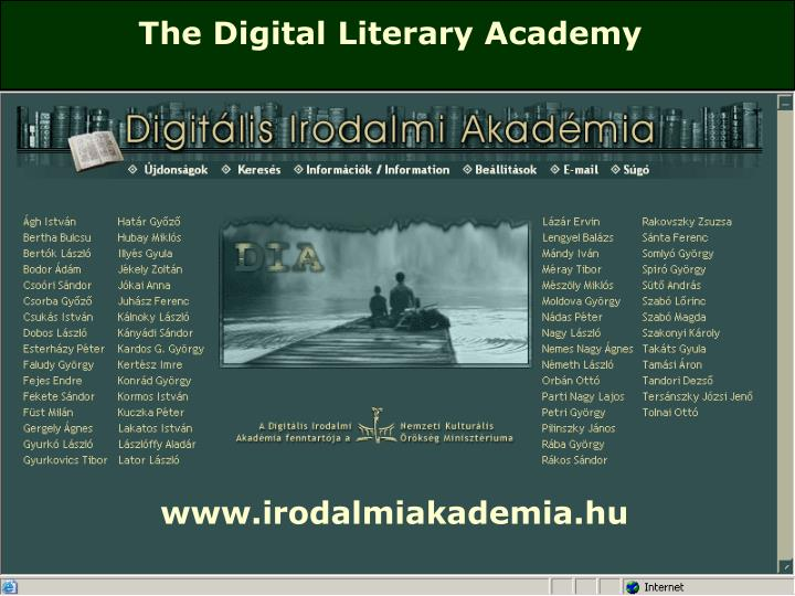 The Digital Literary Academy