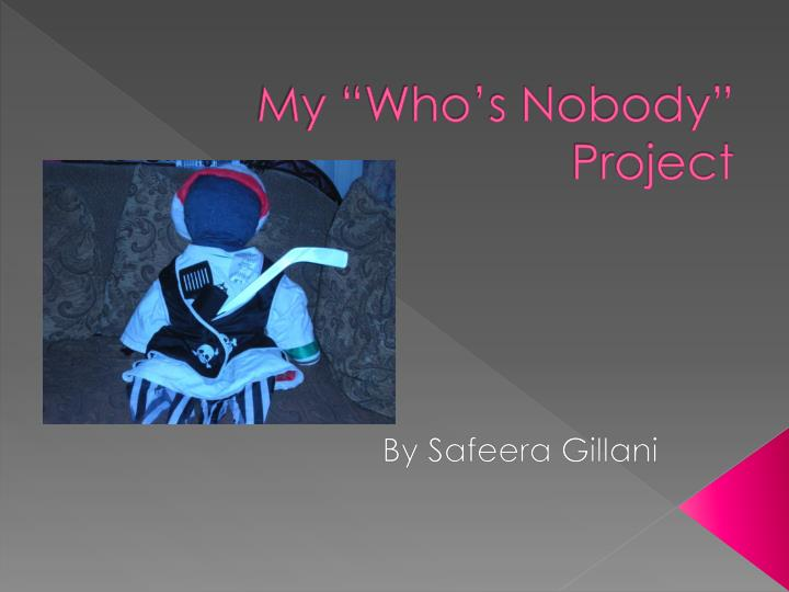 my who s nobody project n.