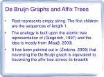 de bruijn graphs and affix trees1