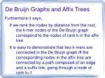 de bruijn graphs and affix trees2