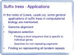 suffix trees applications