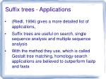 suffix trees applications1