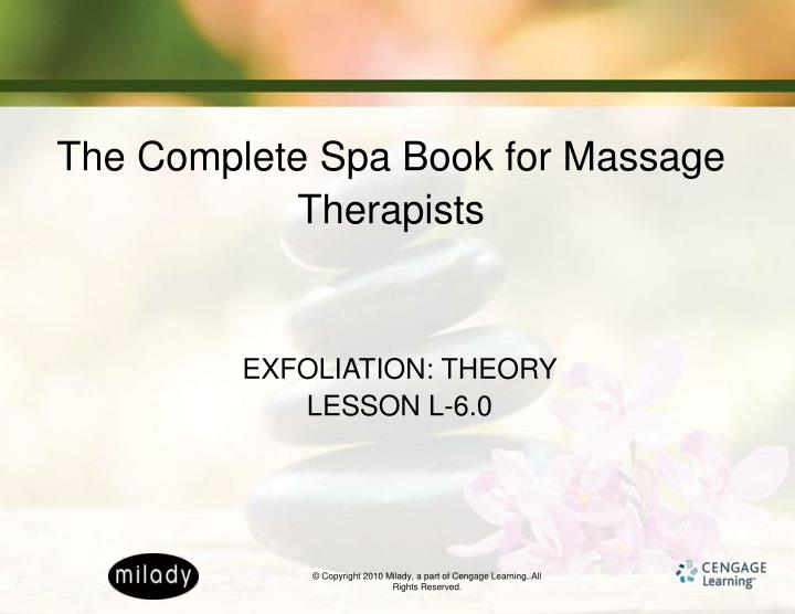 the complete spa book for massage therapists n.