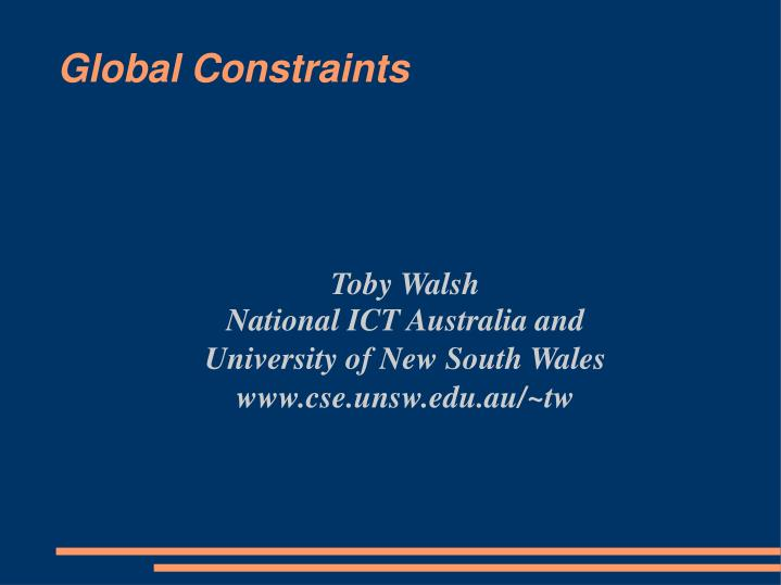 toby walsh national ict australia and university of new south wales www cse unsw edu au tw n.