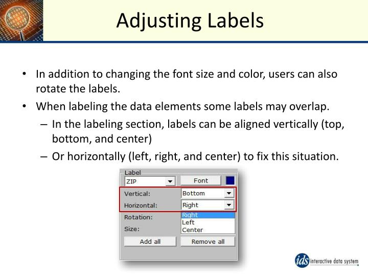 Adjusting Labels