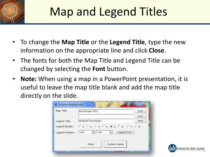 Map and Legend Titles