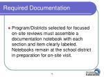 required documentation1