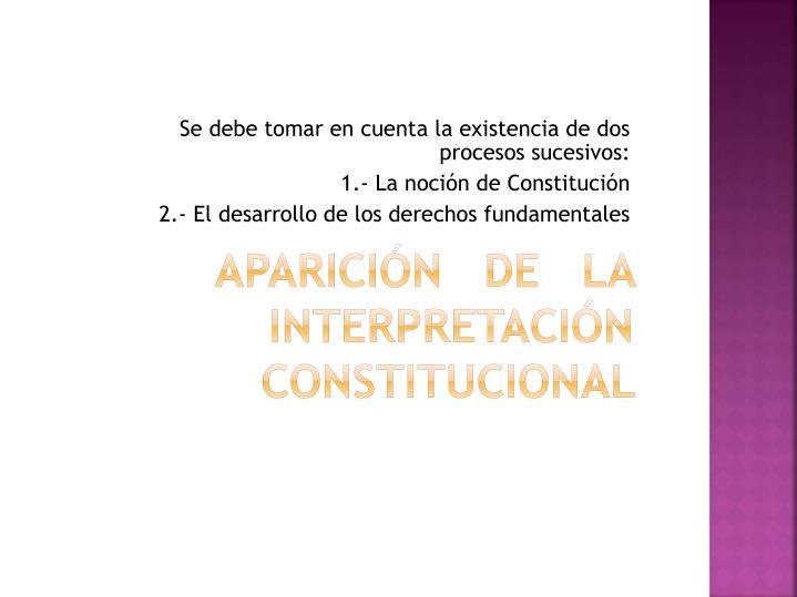 Aparici n de la interpretaci n constitucional