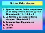 5 las prioridades