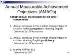 annual measurable achievement objectives amaos