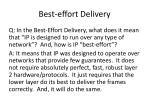 best effort delivery