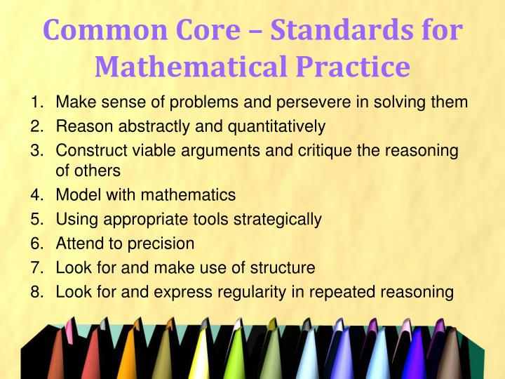Common Core – Standards for Mathematical Practice