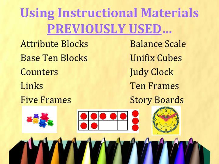 Using Instructional Materials