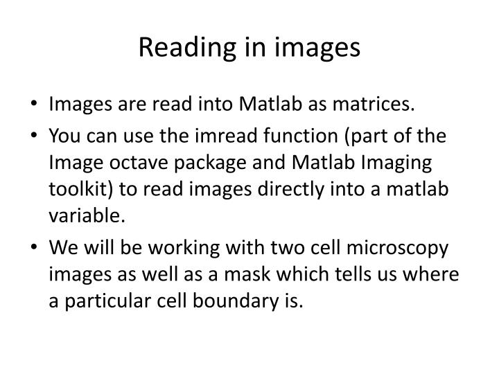 Reading in images