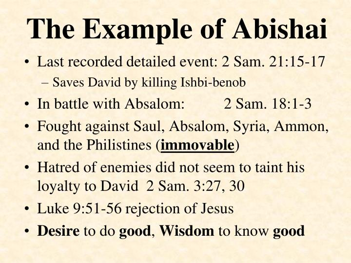 The Example of Abishai