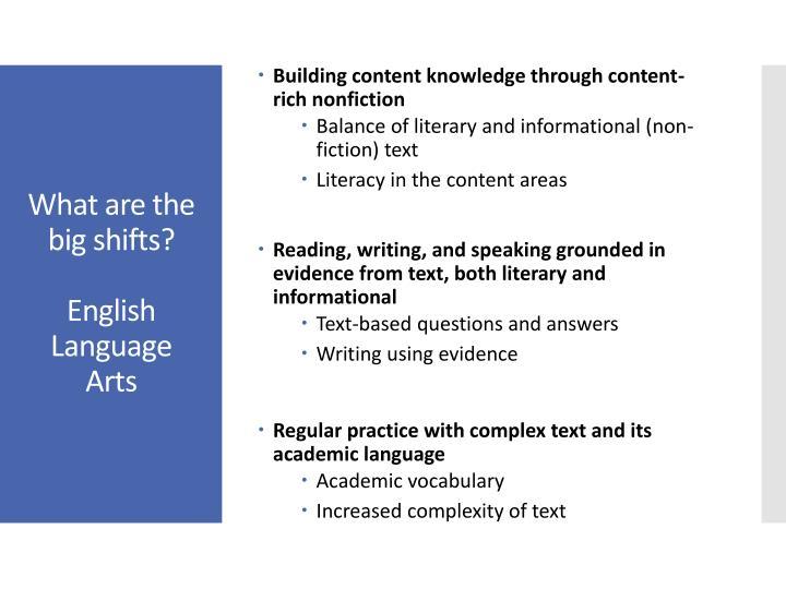 Building content knowledge through content-rich nonfiction