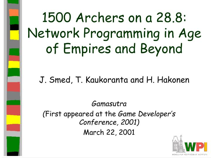 1500 archers on a 28 8 network programming in age of empires and beyond