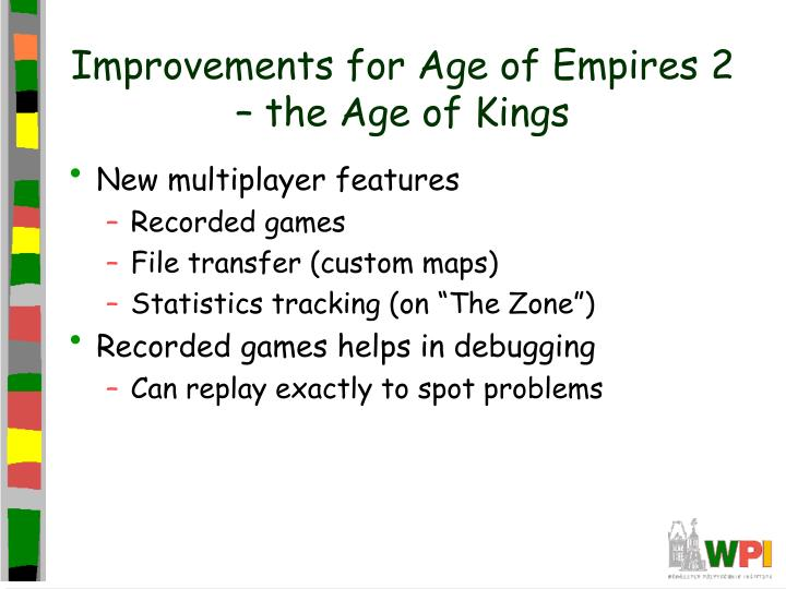Improvements for Age of Empires 2 – the Age of Kings