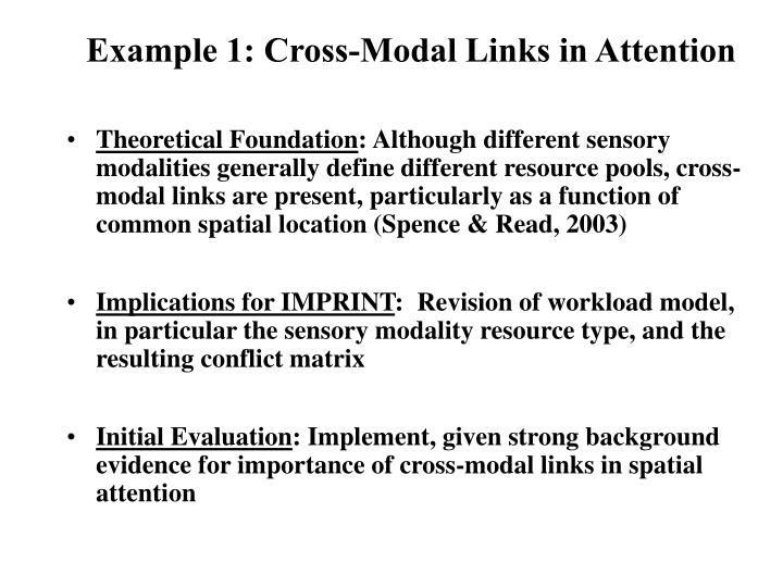 Example 1: Cross-Modal Links in Attention