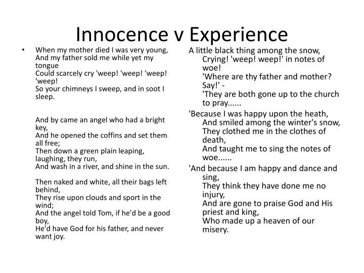 Innocence v Experience
