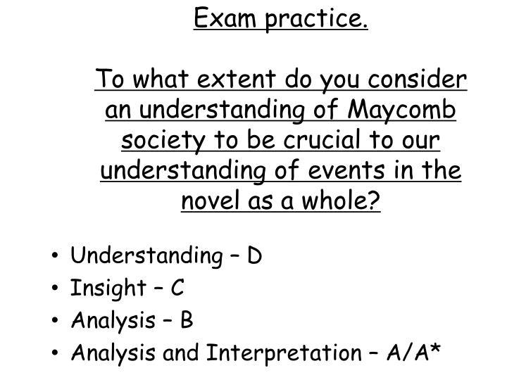 Exam practice.