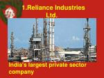 1 reliance industries ltd