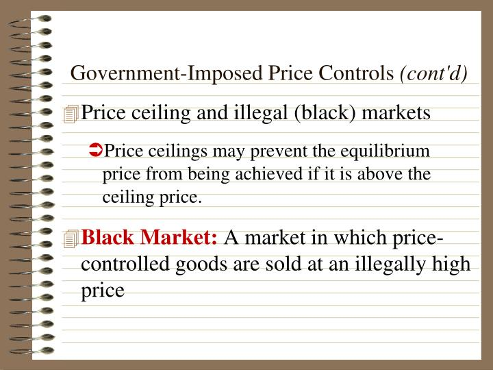 Government-Imposed Price Controls