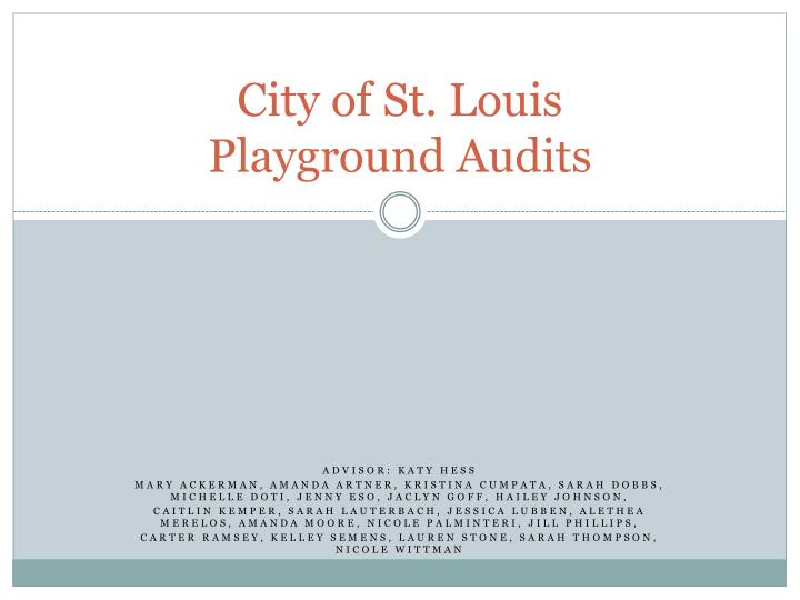 city of st louis playground audits n.