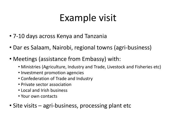 7-10 days across Kenya and Tanzania