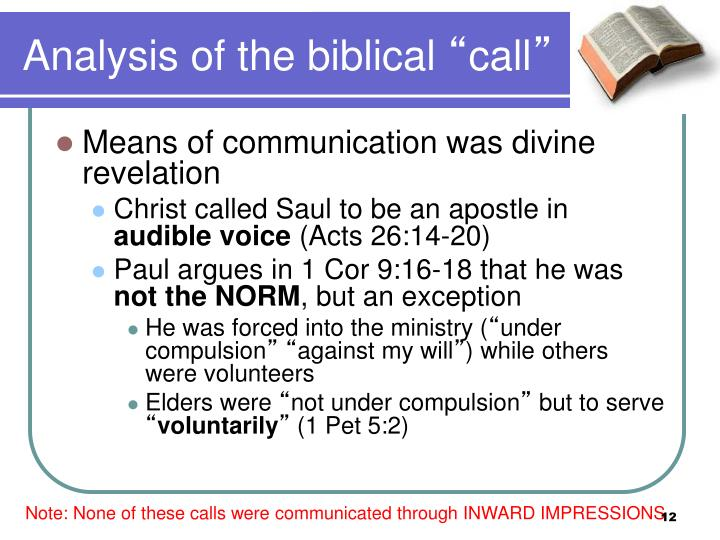 Analysis of the biblical