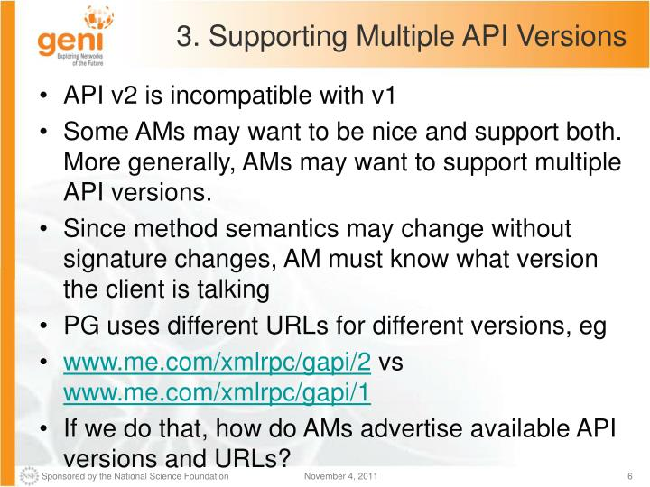 3. Supporting Multiple API Versions