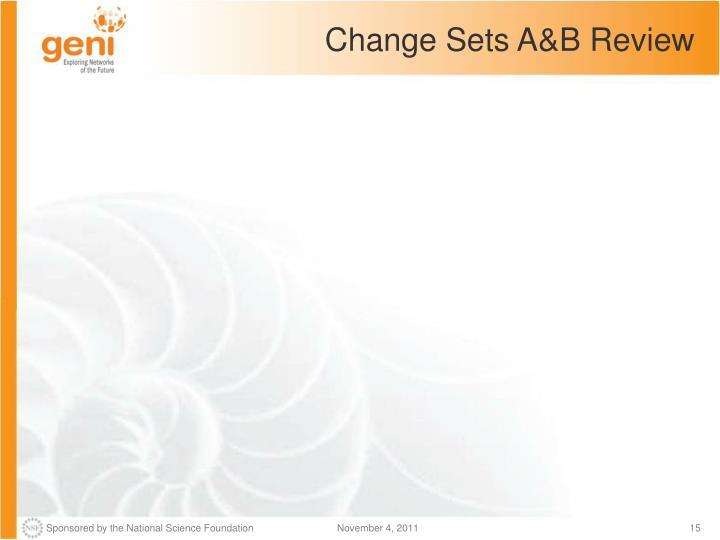 Change Sets A&B Review