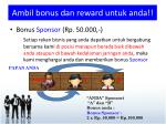 ambil bonus dan reward untuk anda1