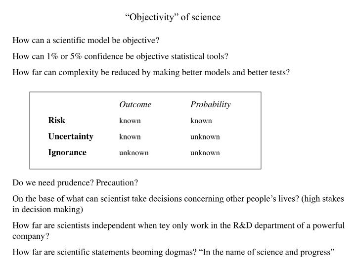"""Objectivity"" of science"