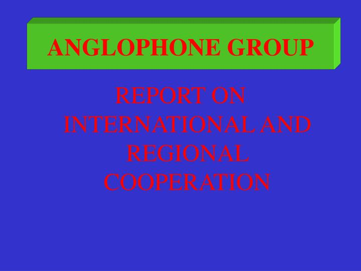 anglophone group n.
