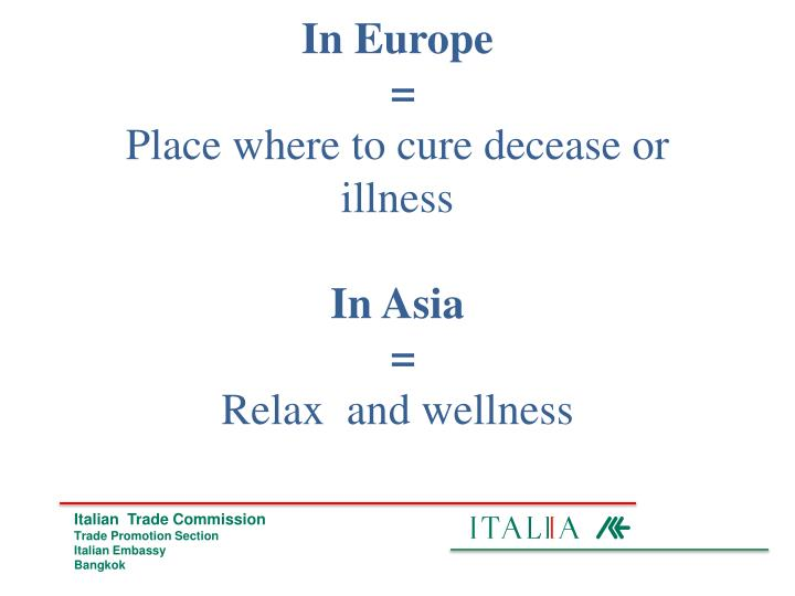 In europe place where to cure decease or illness in asia relax and wellness