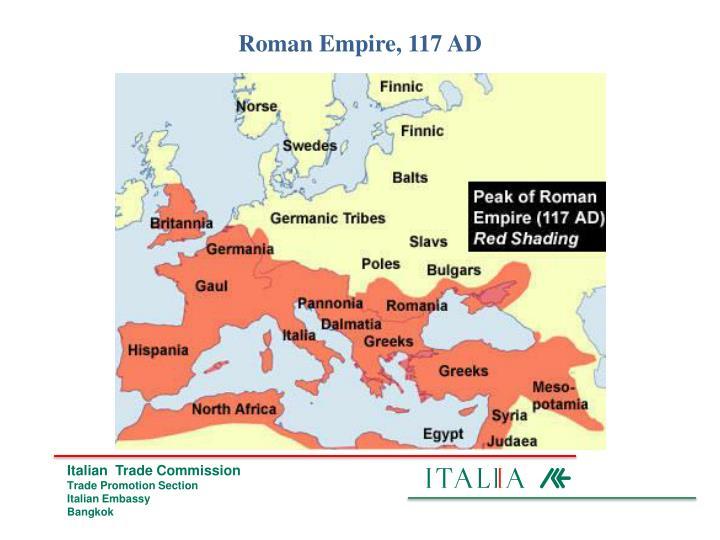 Roman Empire, 117 AD