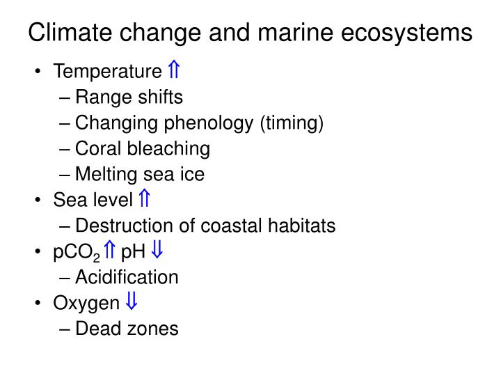 climate change and marine ecosystems n.