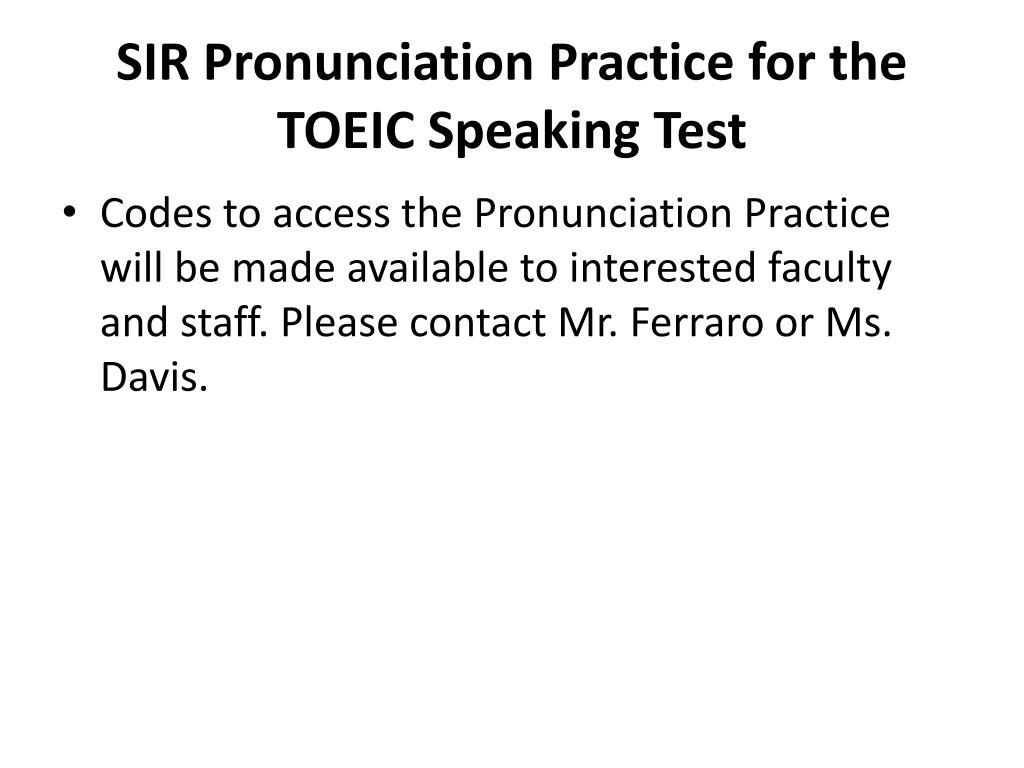 PPT - English Pronunciation PowerPoint Presentation - ID:5452265