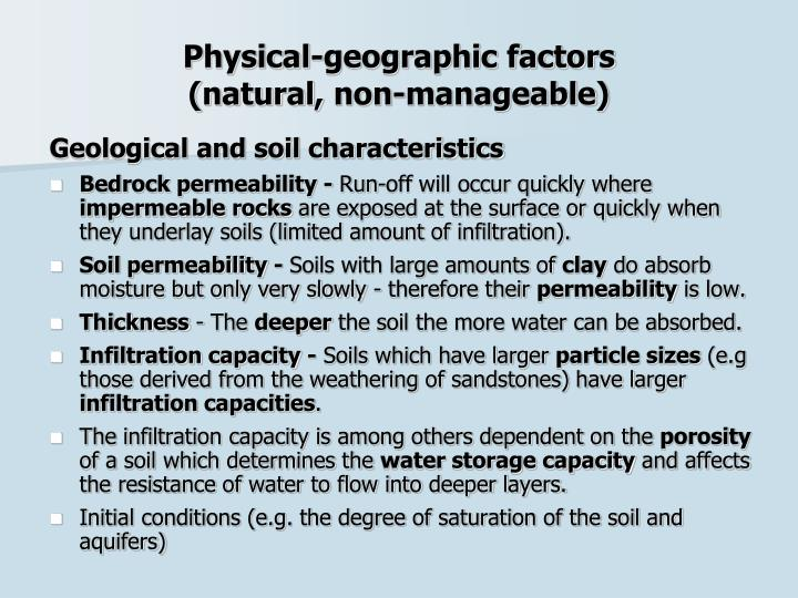 Physical-geographic factors