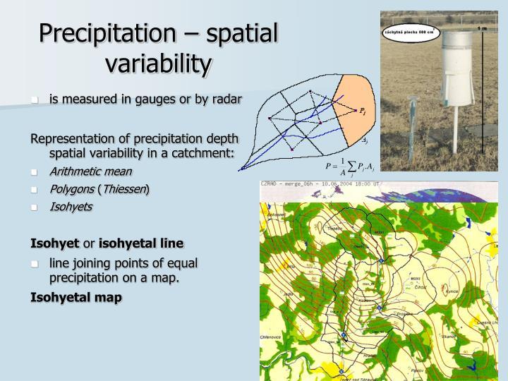 Precipitation – spatial variability