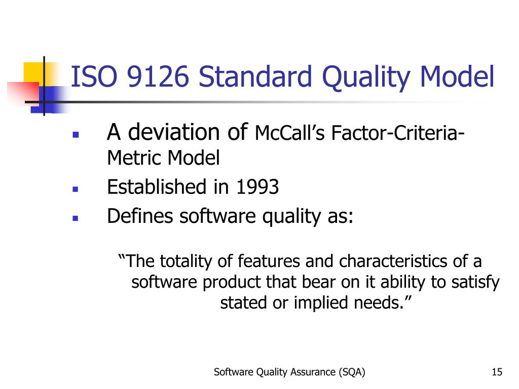 Ppt Software Quality Models Powerpoint Presentation
