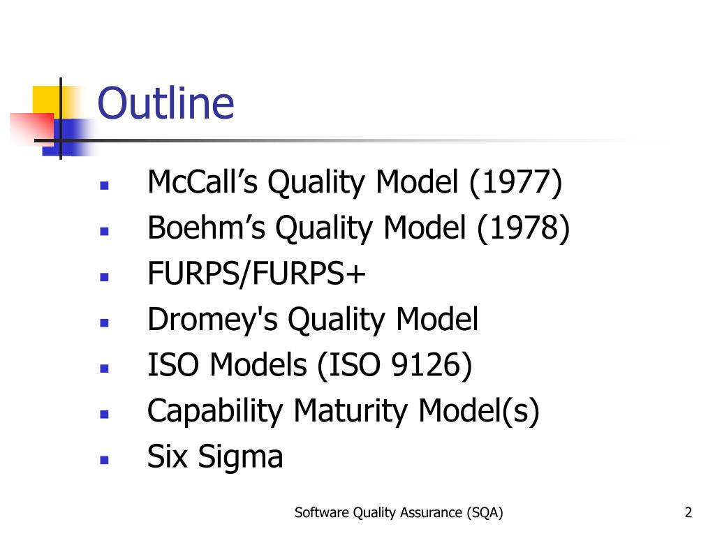PPT - Software Quality Models PowerPoint Presentation - ID