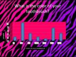 what is the color of your toothbrush