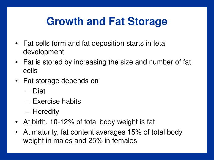 Growth and Fat Storage