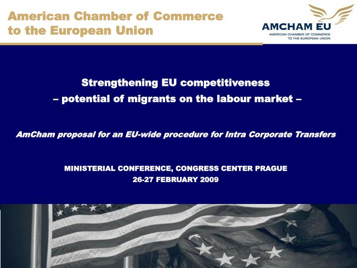 american chamber of commerce to the european union n.