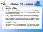 betting and anti corruption